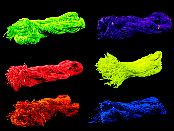 100 Neon Poly Strings (100% Polyester)