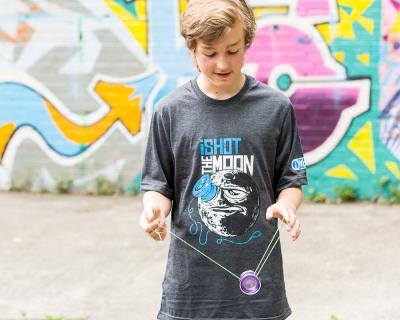 iShot.The.Moon - Shirt - blauer Print
